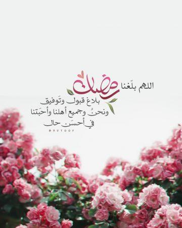 صورة مكتوب عليها: اللهم بلغنا رمضان بلاغ قبول وتوفيق ونحن ومن نحب في أحسن حال